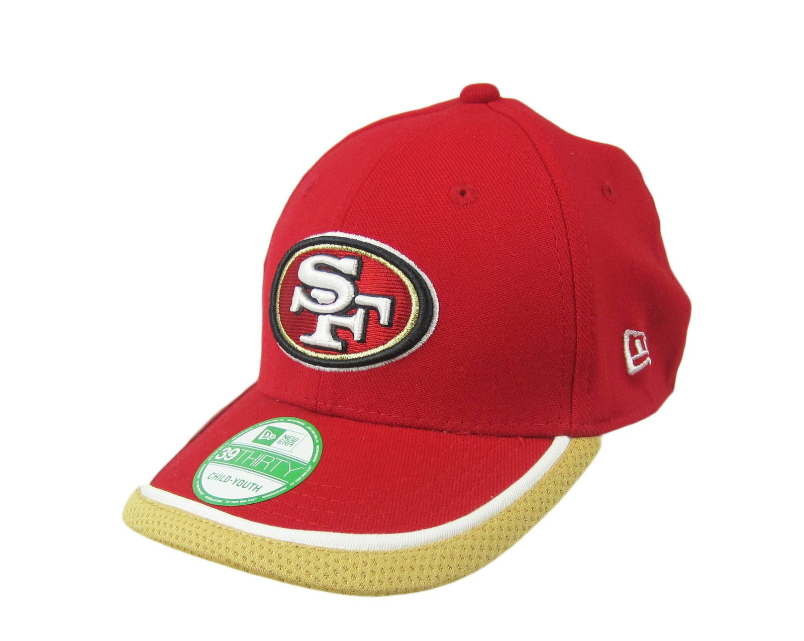 e95ee5c11b511 Details about New Era 39Thirty San Francisco 49ers Child-Youth Red Cap Hat  NWT