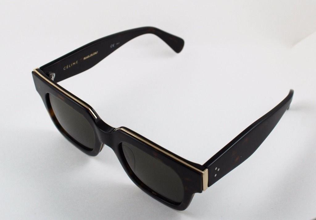 ce3c0d43235e Details about Celine CL 41097 s Z06-70 Sunglasses Square Dark Havana and  Gold Frame Brown Lens