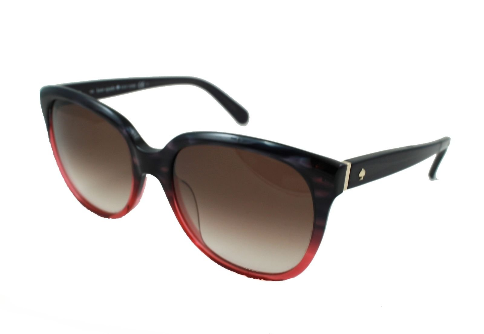21f46a1d4bd7e Kate Spade Bayleigh s Sunglasses Rose to Black Tortoise Fade Brown Gradient  55mm