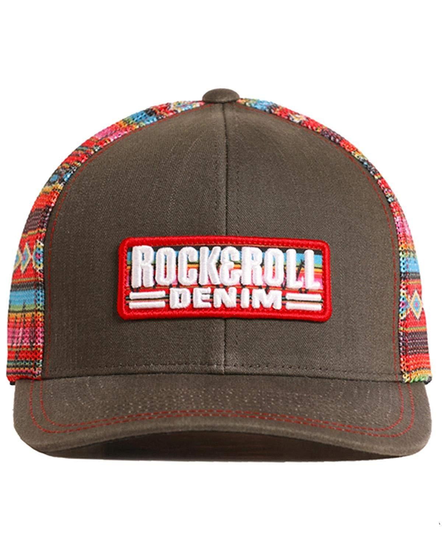 8d67a29a649580 Rock & Roll Cowboy Men's and Denim Serape Printed Mesh Cap - Cbc7741 ...