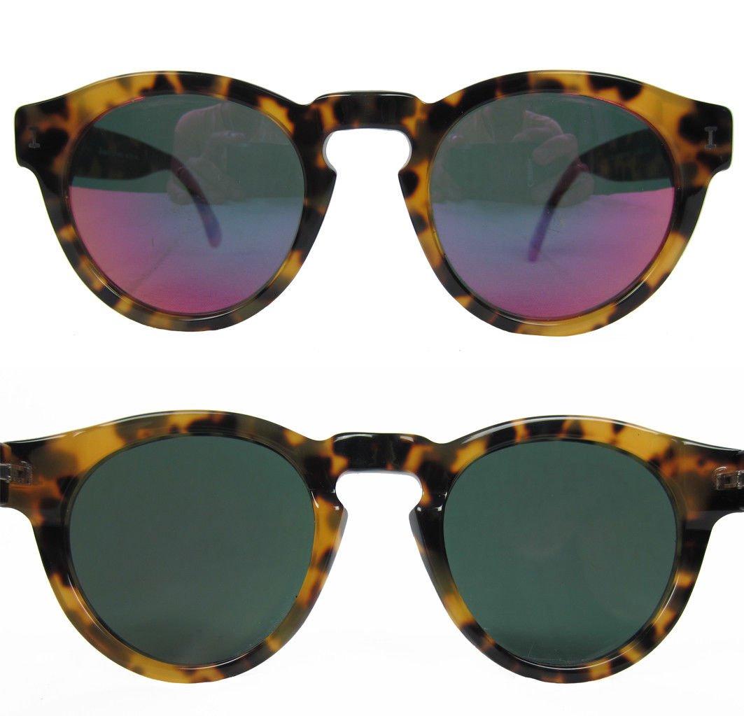 5a42a279a7fa4 Illesteva Leonard C. 62 Round Sunglasses Tortoise Pink Mirrored Lenses  Keyhole