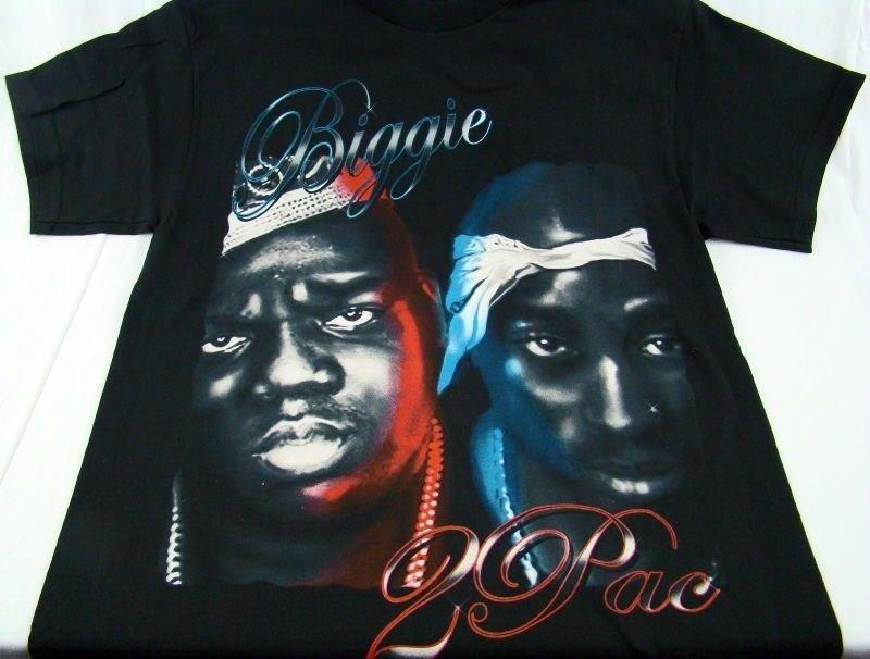 Details about Men Tupac Shakur Biggie Smalls Notorious BIG Old School Rap  Hip Hop T Shirt Sz M