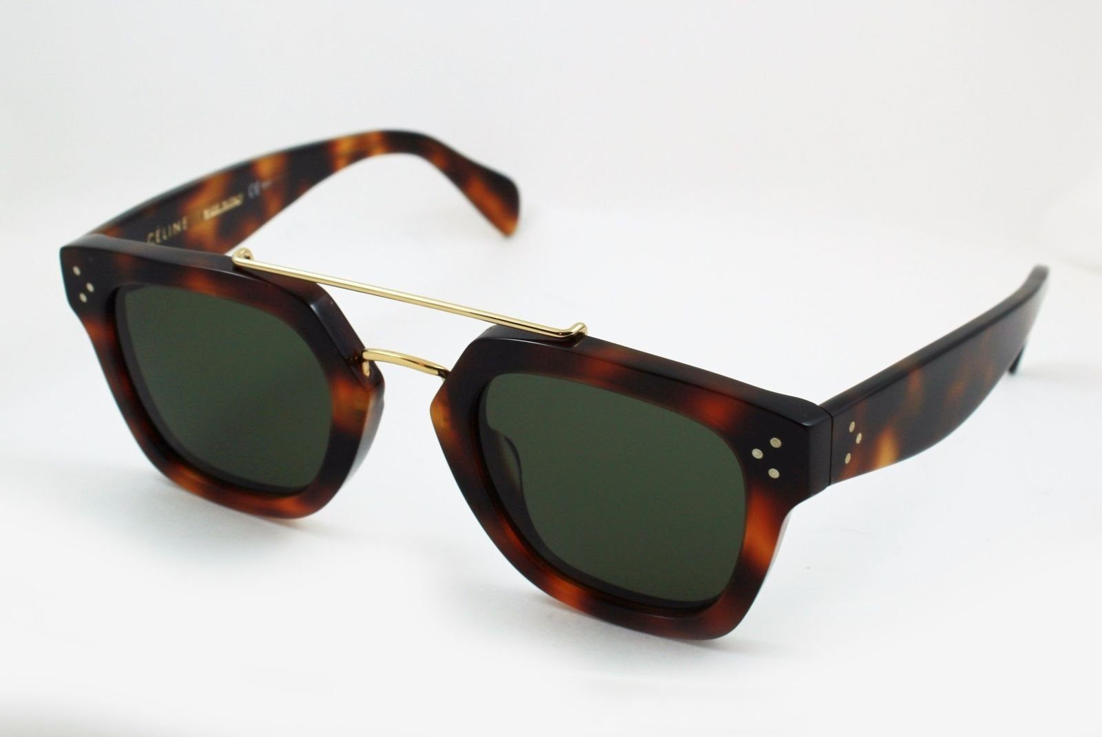 1f377fd83ea Details about Celine CL 41077 s Sunglasses Square Havana (Tortoise) Solid  Brown Lenses 47mm