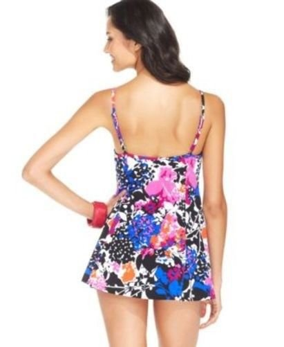 8beddaf817 NWT Swim Solutions Floral Empire Swimdress Swimsuit Tummy Control Size  8-20. Product Details