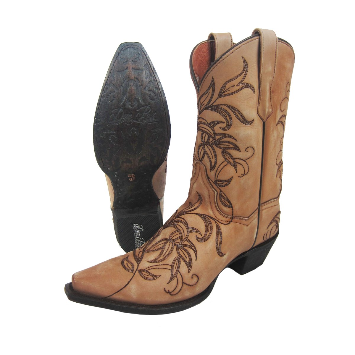 205d6f8de1a Details about NEW Dan Post Womens Nora Bone Pointed Leather Cowgirl Western  Boot Size 9 DP3733