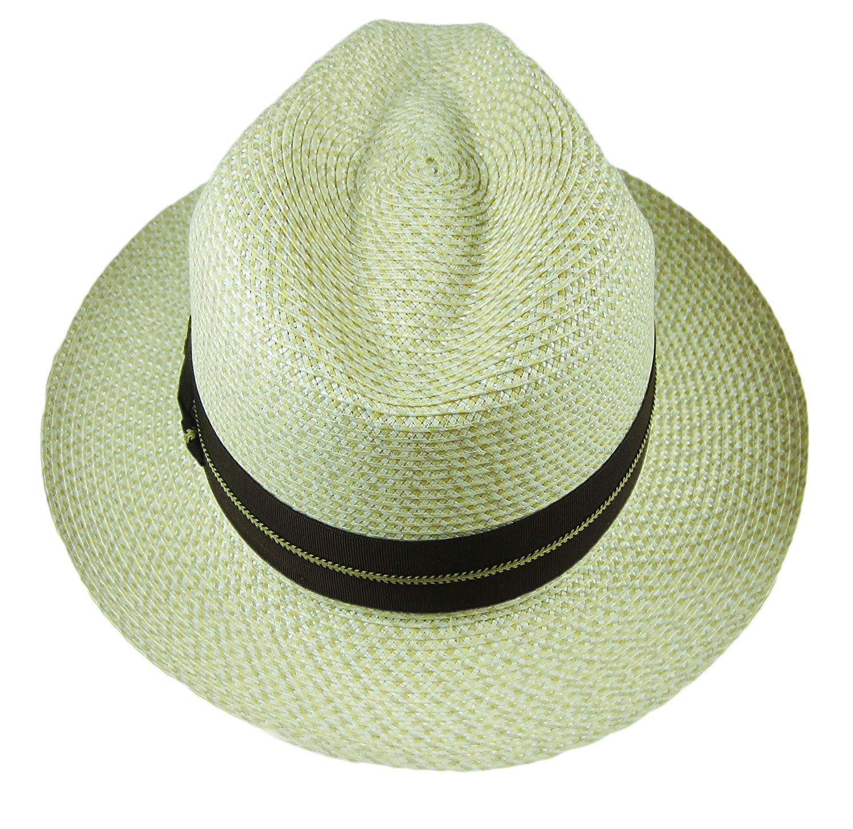 e32b1e1650463 Stetson Winston Straw Hat Fedora Tan Size 7 3 8