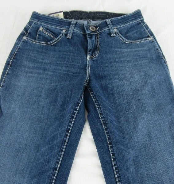 Womens Wrangler Q-BABY WRQ25BR Plain Pocket Mid Rise Boot Cut Jeans