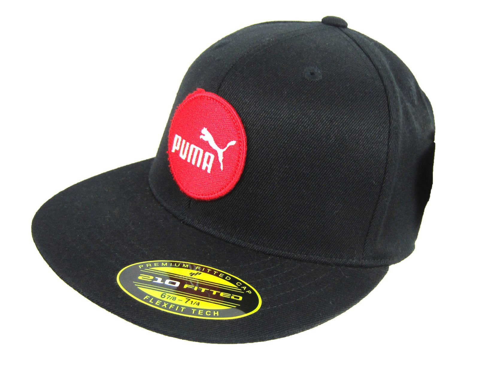 29bf9929edd08f Details about Puma Premium Fitted Cap Hat Flexfit Tech Black 6 7/8-7 1/4 or  7 1/4-7 5/8 NWT