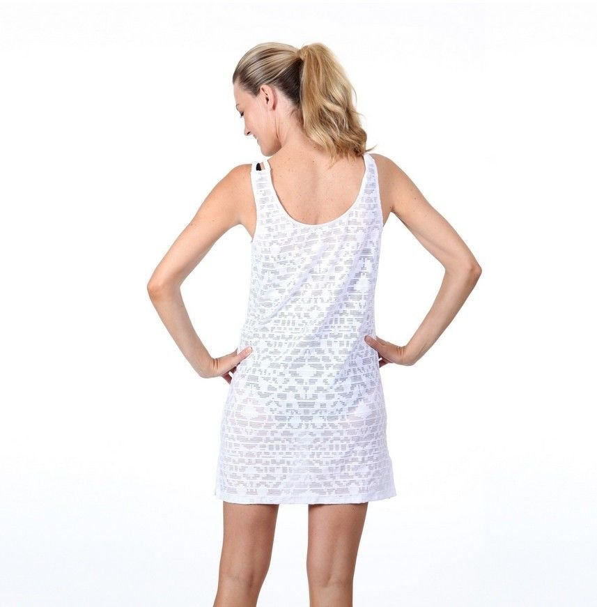 online retailer durable in use street price Details about Dotti Ethnic Fusion White Swimsuit Cover-Up Sheer Sleeveless  Tank Dress Size L