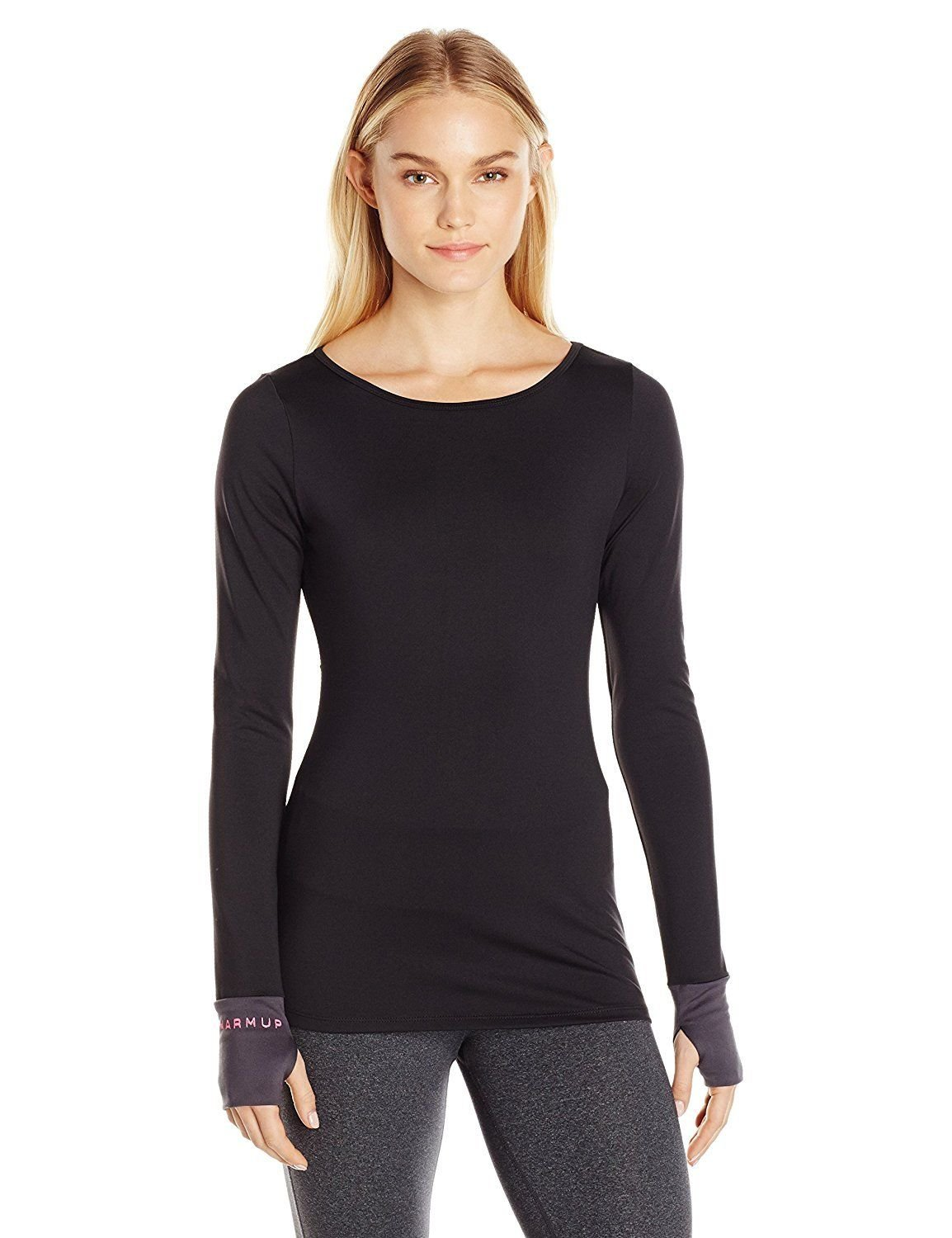 42f22420ae244 The Warm Up by Jessica Simpson Women's Jet Black Compression LS Size Large  NWT
