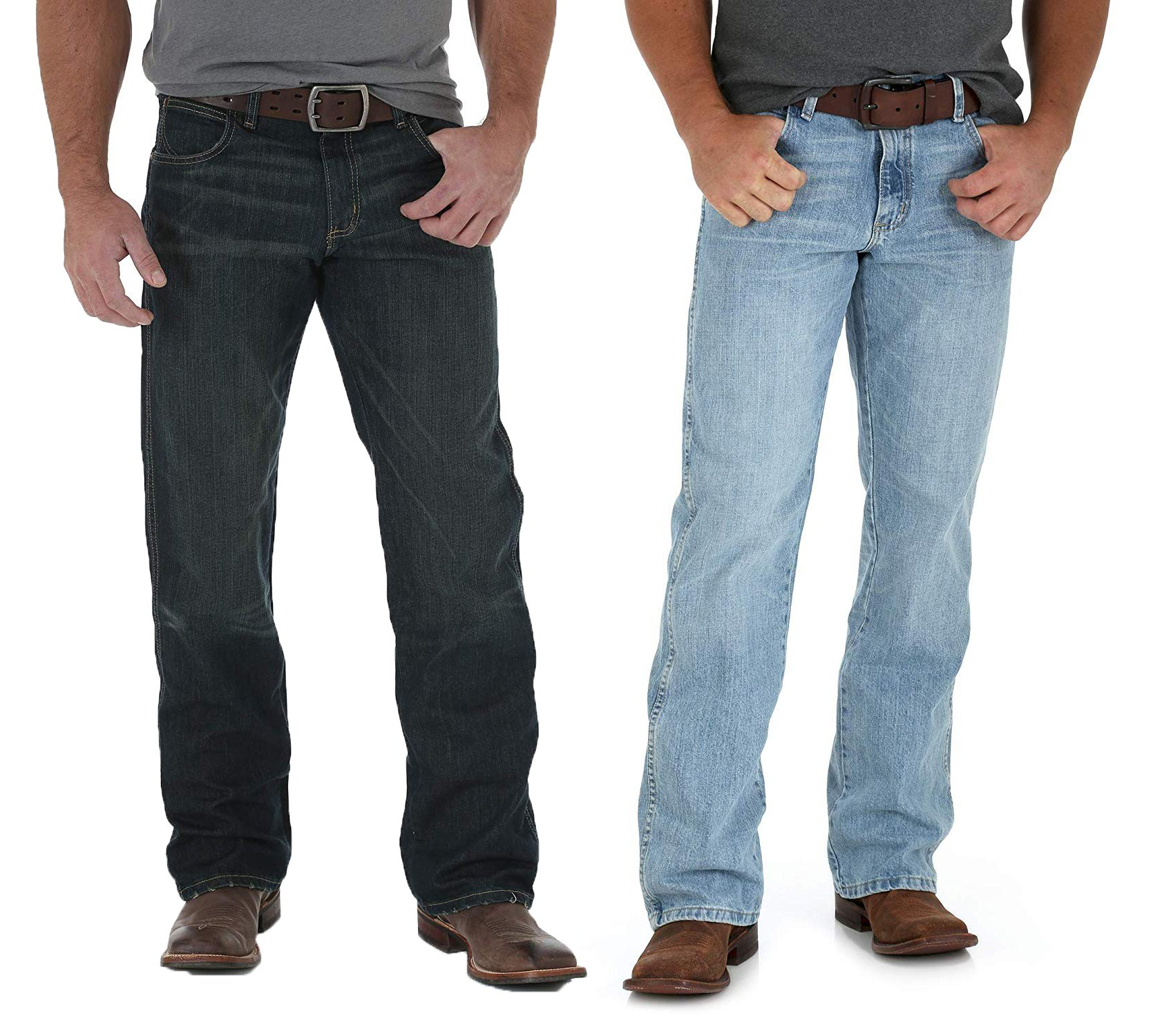 677c030a335 Details about Worn Black Wrangler Men's Retro Relaxed-Fit Bootcut Jean -  WRT20WB