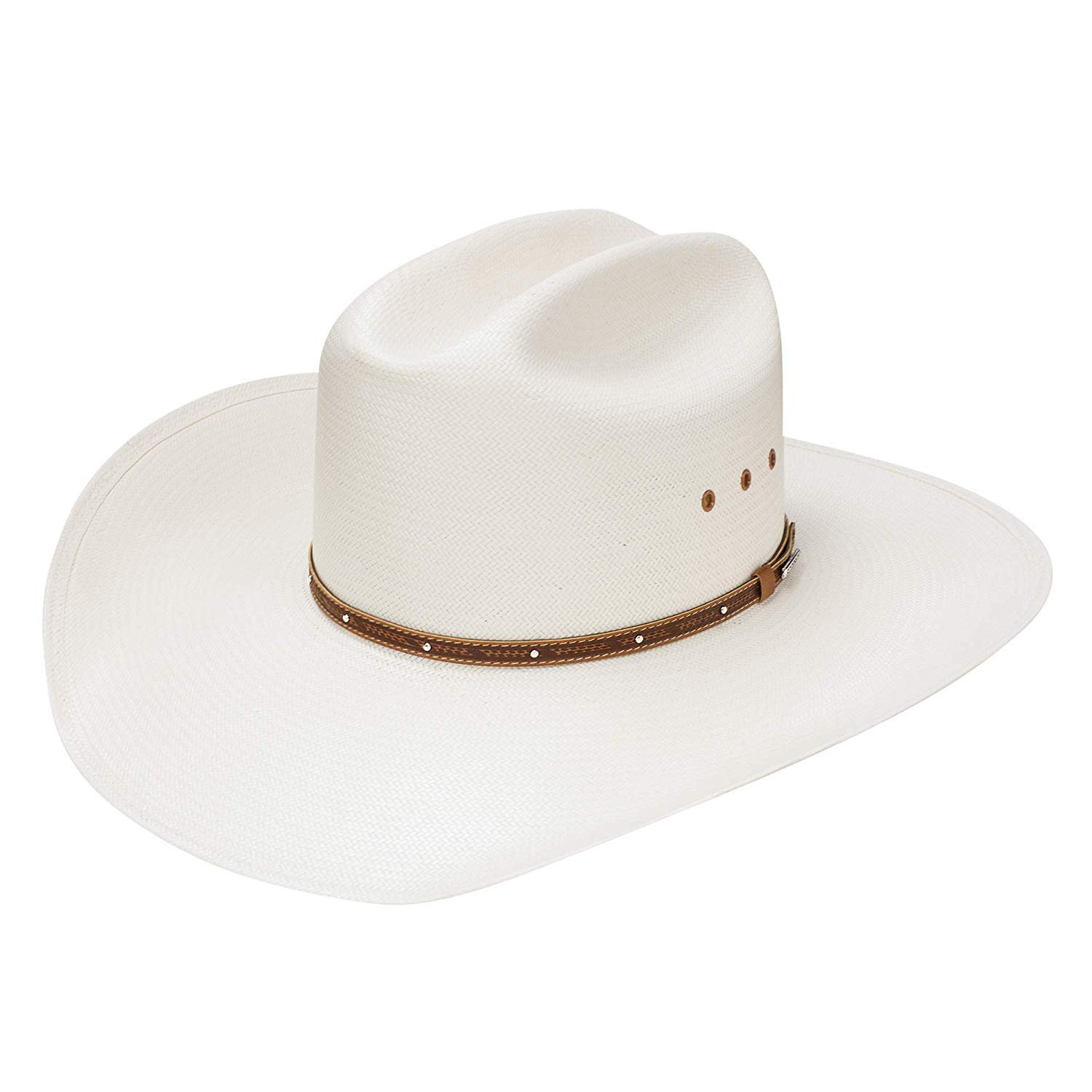595bdcd3c08f6 Details about Stetson 10X Stanhope Natural Cowboy Hat Size 7 1 8