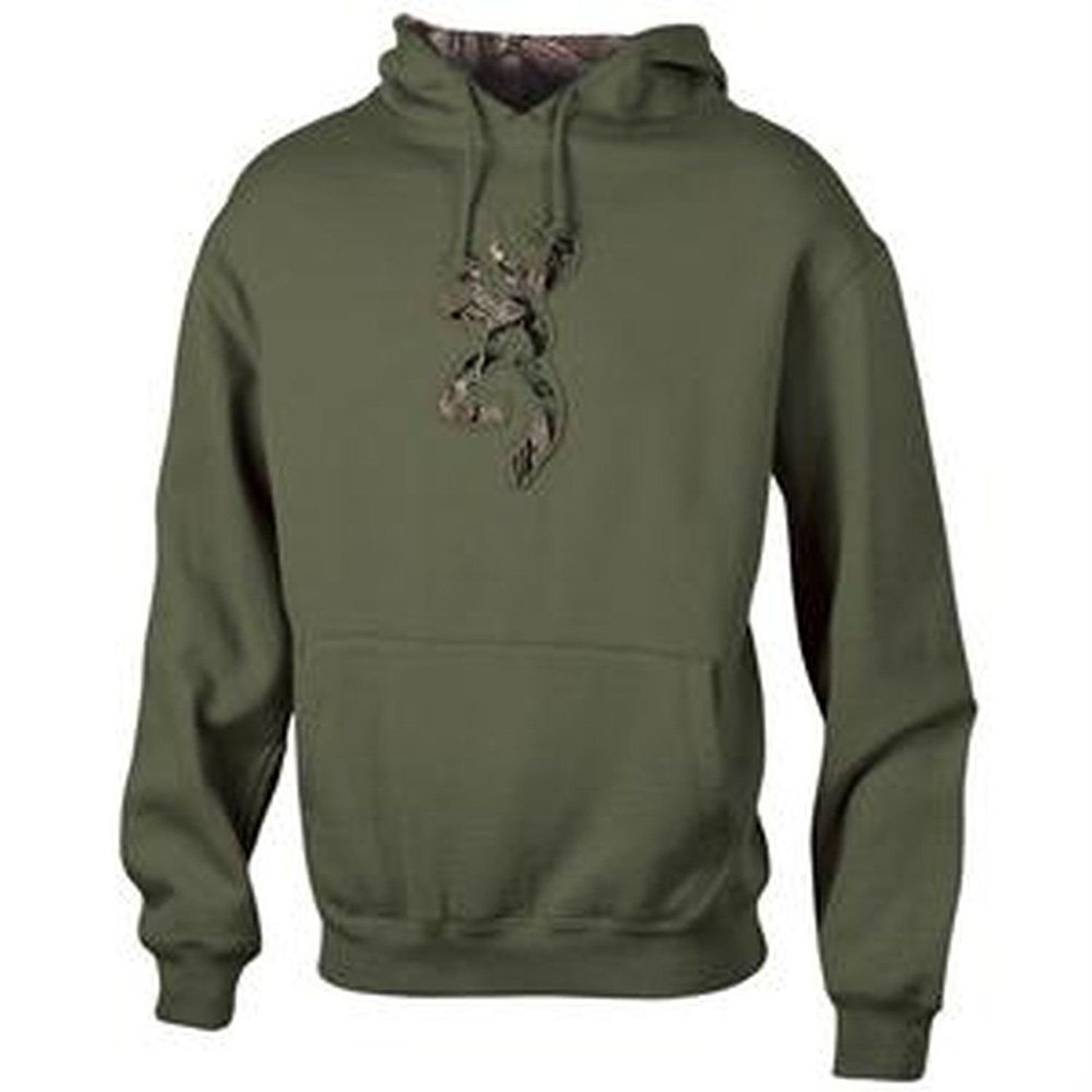 ef1c1572e4b Details about Mens NWT Browning Buckmark Camo Logo Sweatshirt Hoodie Clover  Green