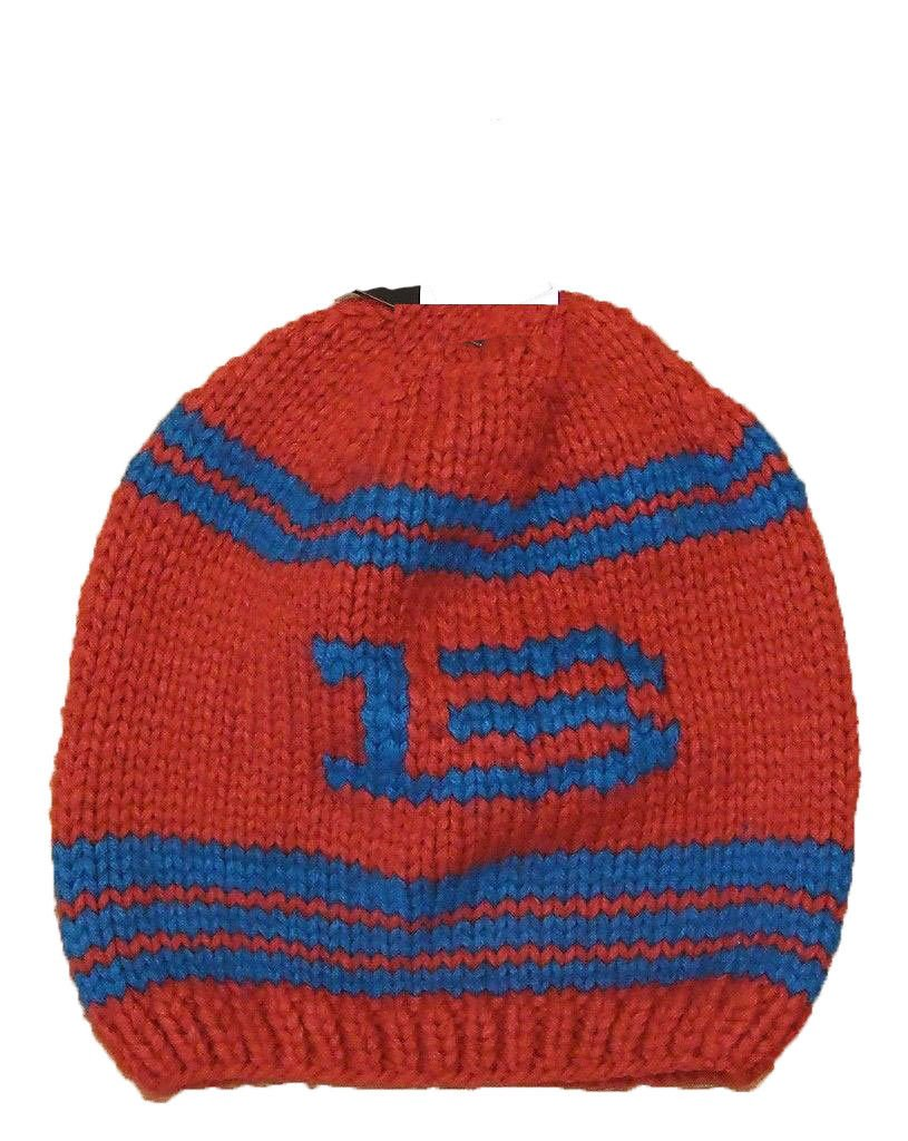 c8c8fc13c6d Details about NWT Burton B13 Hand Knitted Beanie Burner One Size Orange and  Blue Mens
