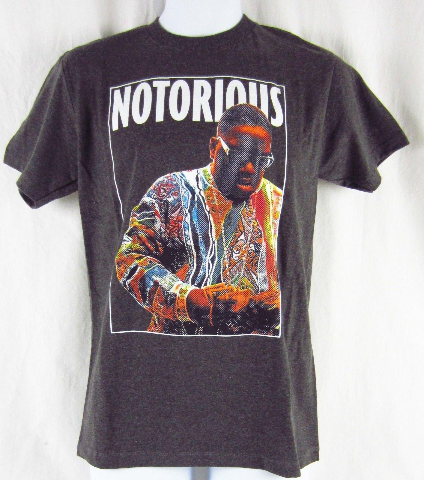 08fda145a64b28 Mens New Biggie Notorious BIG Heathered Grey Gray T-Shirt Size S M L XL 2XL