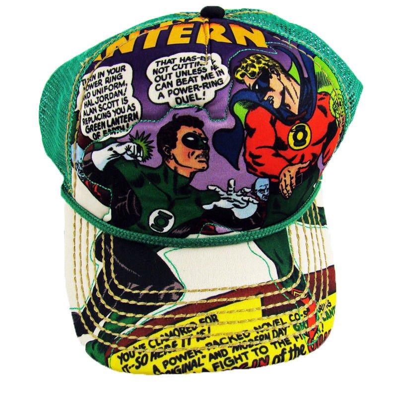 0a53c521eb6 Mens NWT Official DC Comics The Green Lantern Mesh Snap Back Closure Hat Cap