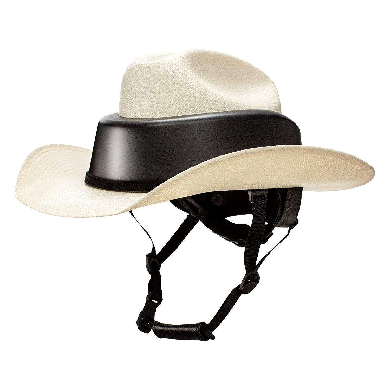 Details about Resistol Ride Safe Western Hat Helmet Natural Straw 8c18a514c28