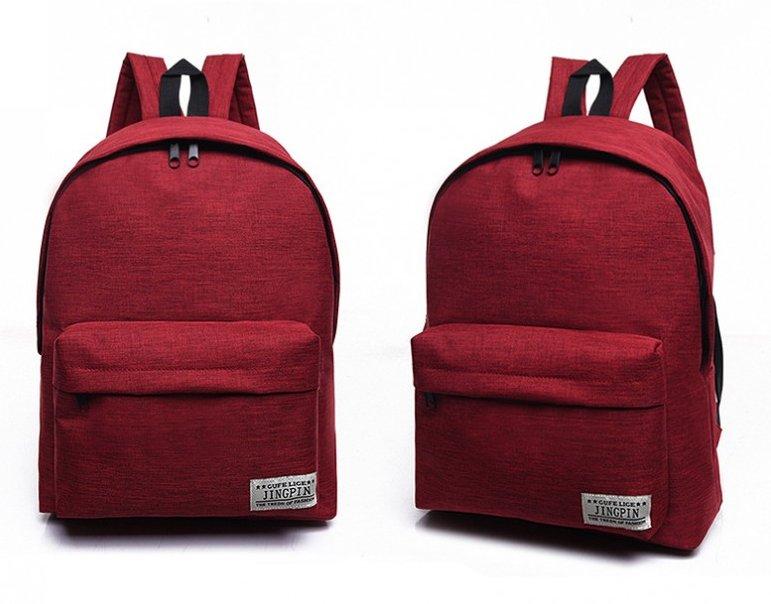 High-Quality-Women-or-Men-Canvas-Backpack-Shoulder-School-Bag-Travel thumbnail 11