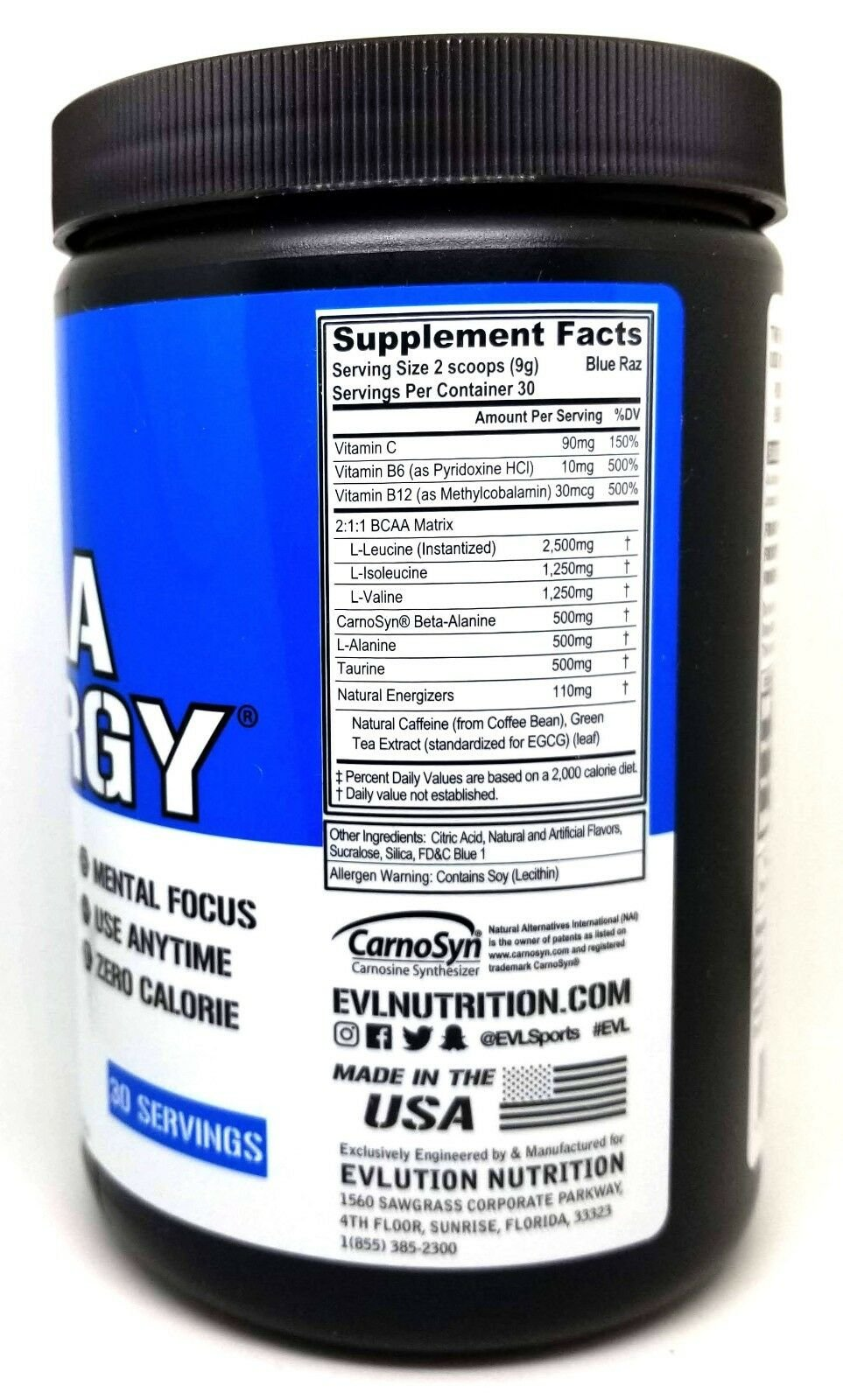 Evlution-Nutrition-EVL-BCAA-ENERGY-30-Servings-Energizing-Aminos miniature 7
