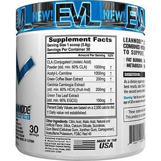 EVLUTION-NUTRITION-EVL-LeanMode-30-Serv-Powder-Stimulant-Free-Fat-Burner-Lean thumbnail 7