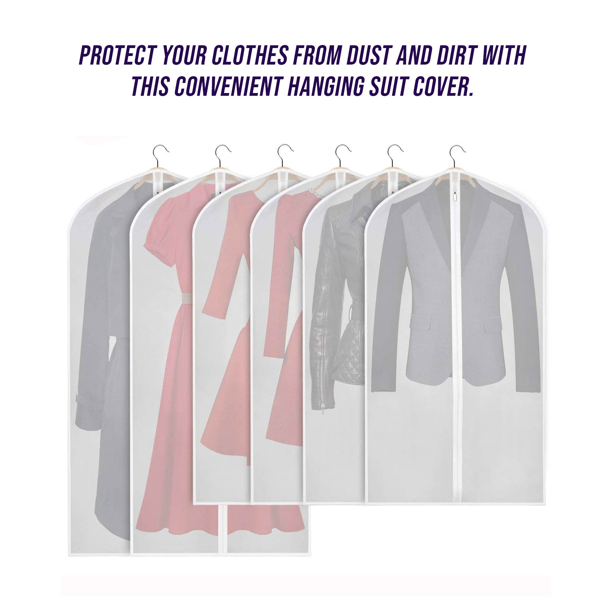 Details About Hanging Garment Bag For Storage Travel Suit Dust Proof Clothing