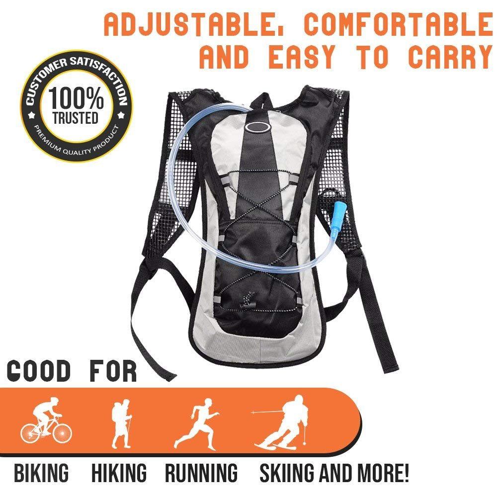 1.5 L Durable Hydration Backpack with Water Bladder Comfortable /& Easy to Carry