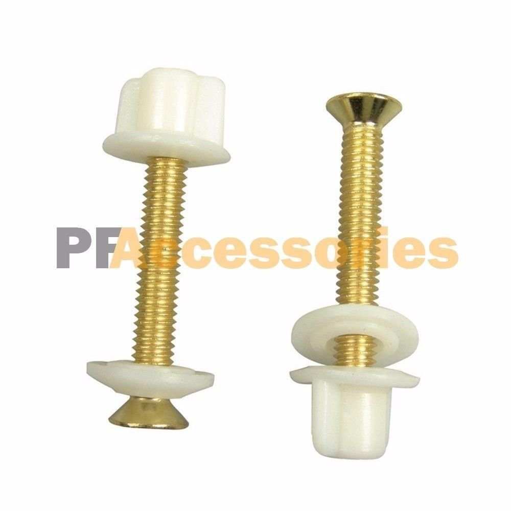 Superb Details About 2 Pcs Brass Toilet Seat Hinge Bolts And Nuts Replacement 3 8 Brass Metal Screws Inzonedesignstudio Interior Chair Design Inzonedesignstudiocom