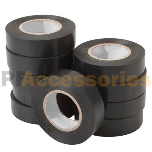 """4 Rolls 50 FT Purpose 0.7/"""" Inch Vinyl PVC Black Insulated Electrical Tape LOT"""