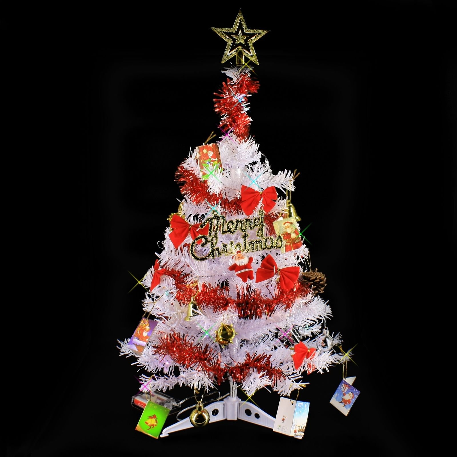 2 FT Tabletop Artificial Small Mini Christmas Tree with ...