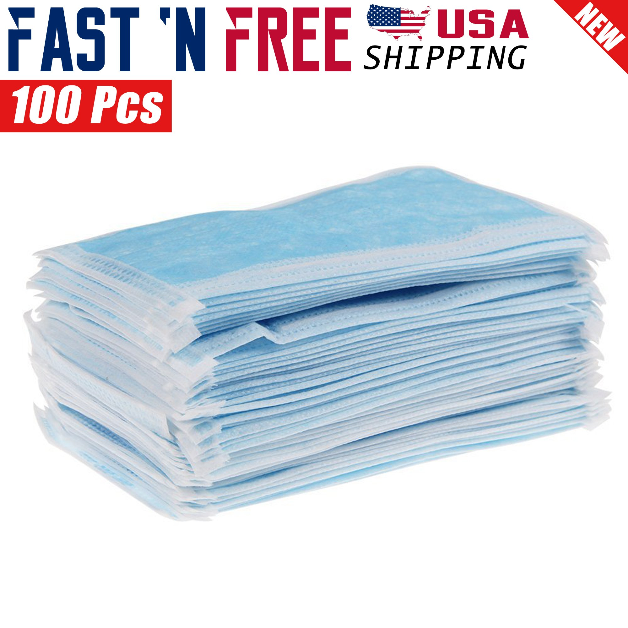Details 100 Elastic For 3-ply About Pcs Medical Disposable Painters Earloop Face Dust Mask
