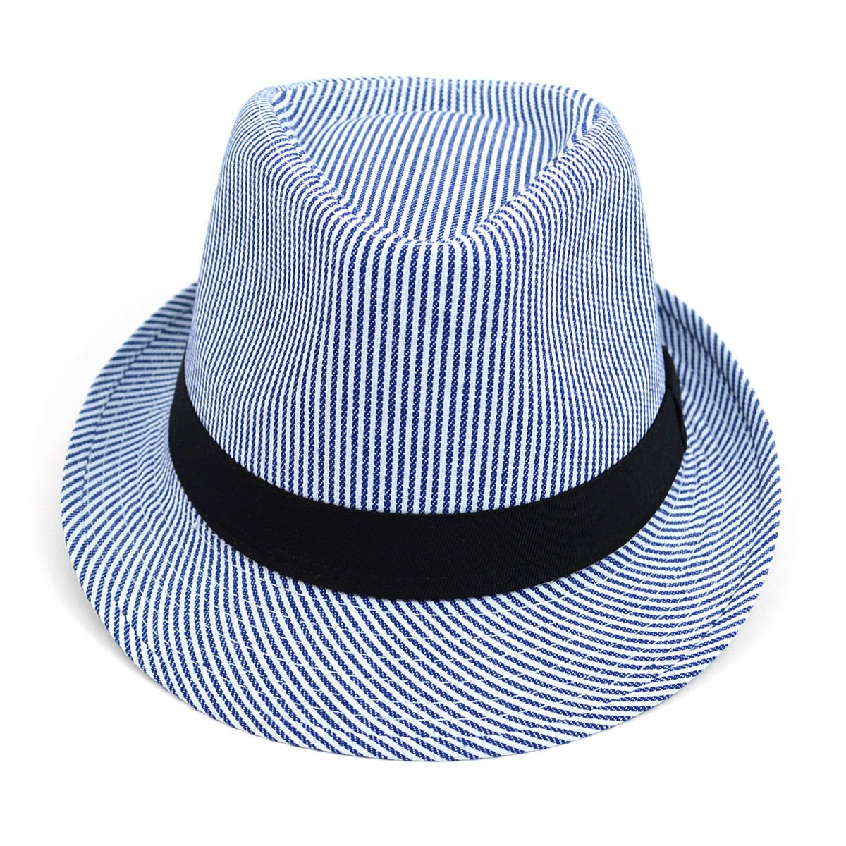 Unisex Spring//Summer Woven Fashion Fedora with Black Band FSS17108