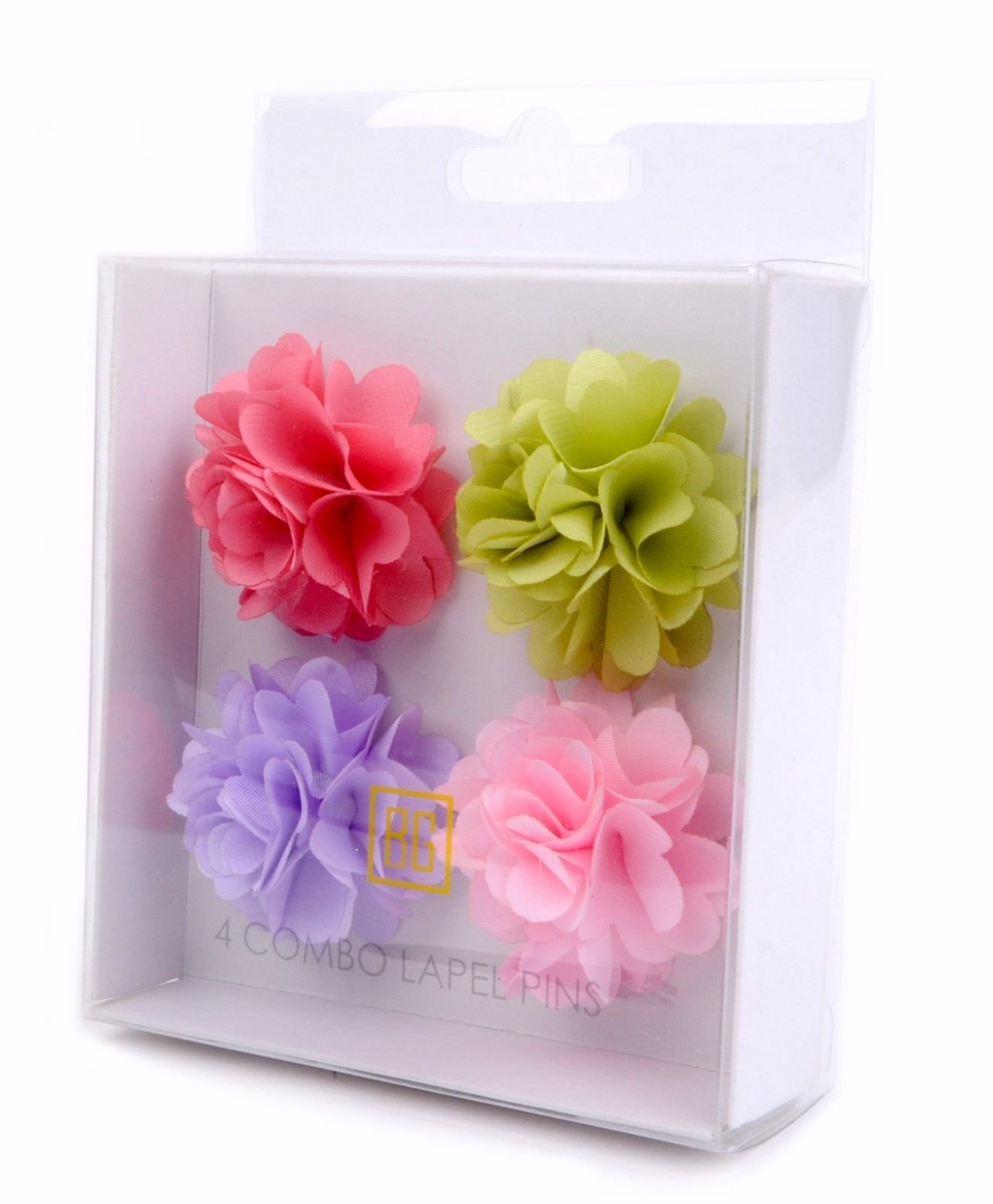 BG-Mini-Bouquet-Clutch-Back-Flower-Tuxedo-Suit-Lapel-Pins-Boutonniere-4-Pack-Set thumbnail 14