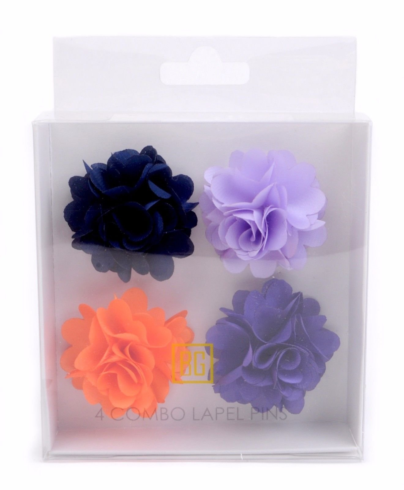BG-Mini-Bouquet-Clutch-Back-Flower-Tuxedo-Suit-Lapel-Pins-Boutonniere-4-Pack-Set thumbnail 23