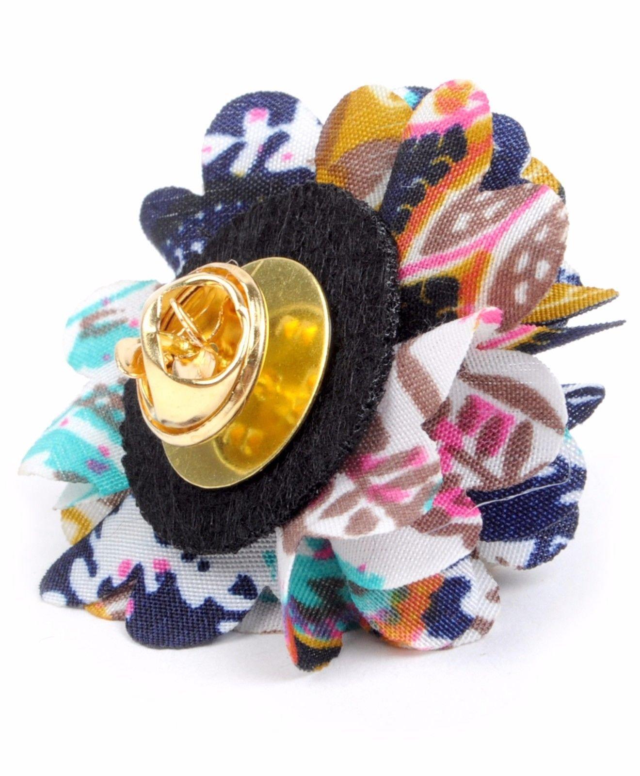Vibrant-Paisley-Flower-Mini-Bouquet-Clutch-Back-Flower-Lapel-Pins-Boutonniere thumbnail 15