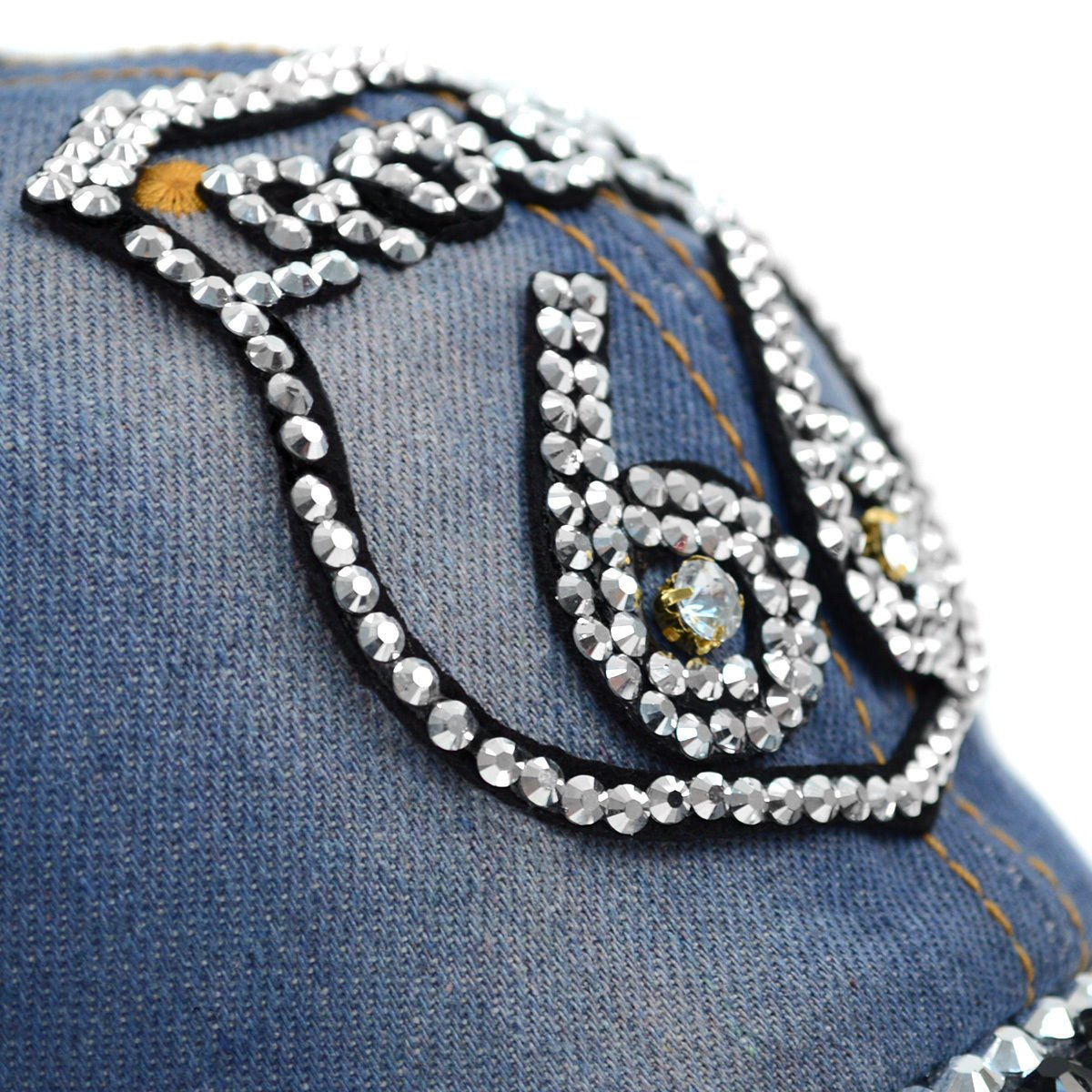f376525d1 Ladies-Denim-Foxy-Studded-Cap-CP9605 thumbnail 7