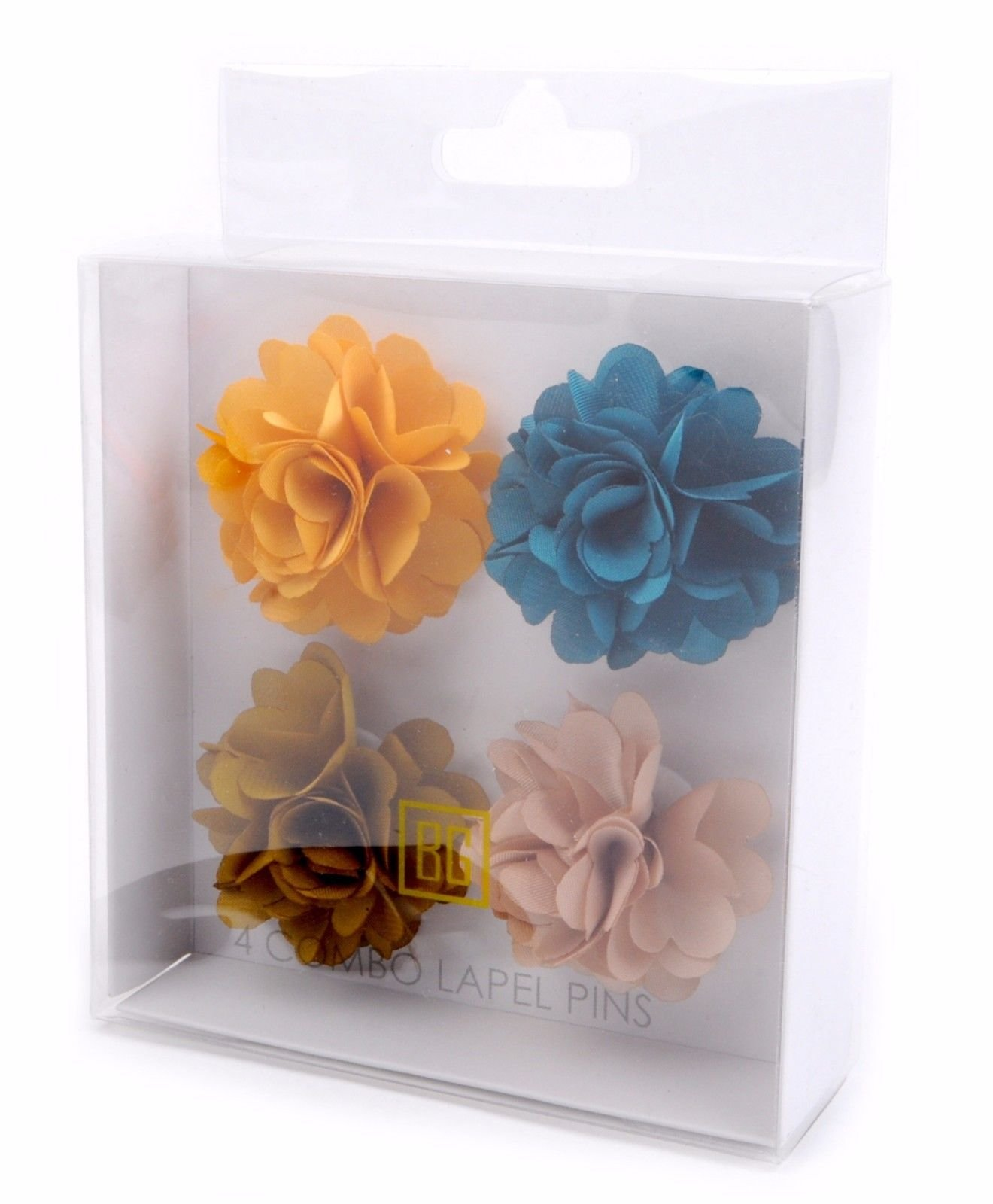 BG-Mini-Bouquet-Clutch-Back-Flower-Tuxedo-Suit-Lapel-Pins-Boutonniere-4-Pack-Set thumbnail 18