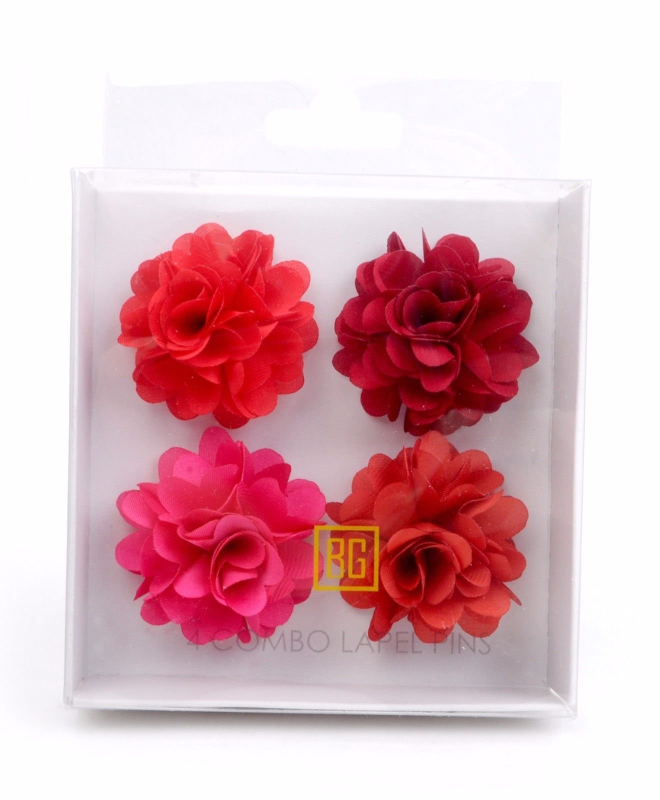 BG-Mini-Bouquet-Clutch-Back-Flower-Tuxedo-Suit-Lapel-Pins-Boutonniere-4-Pack-Set thumbnail 11