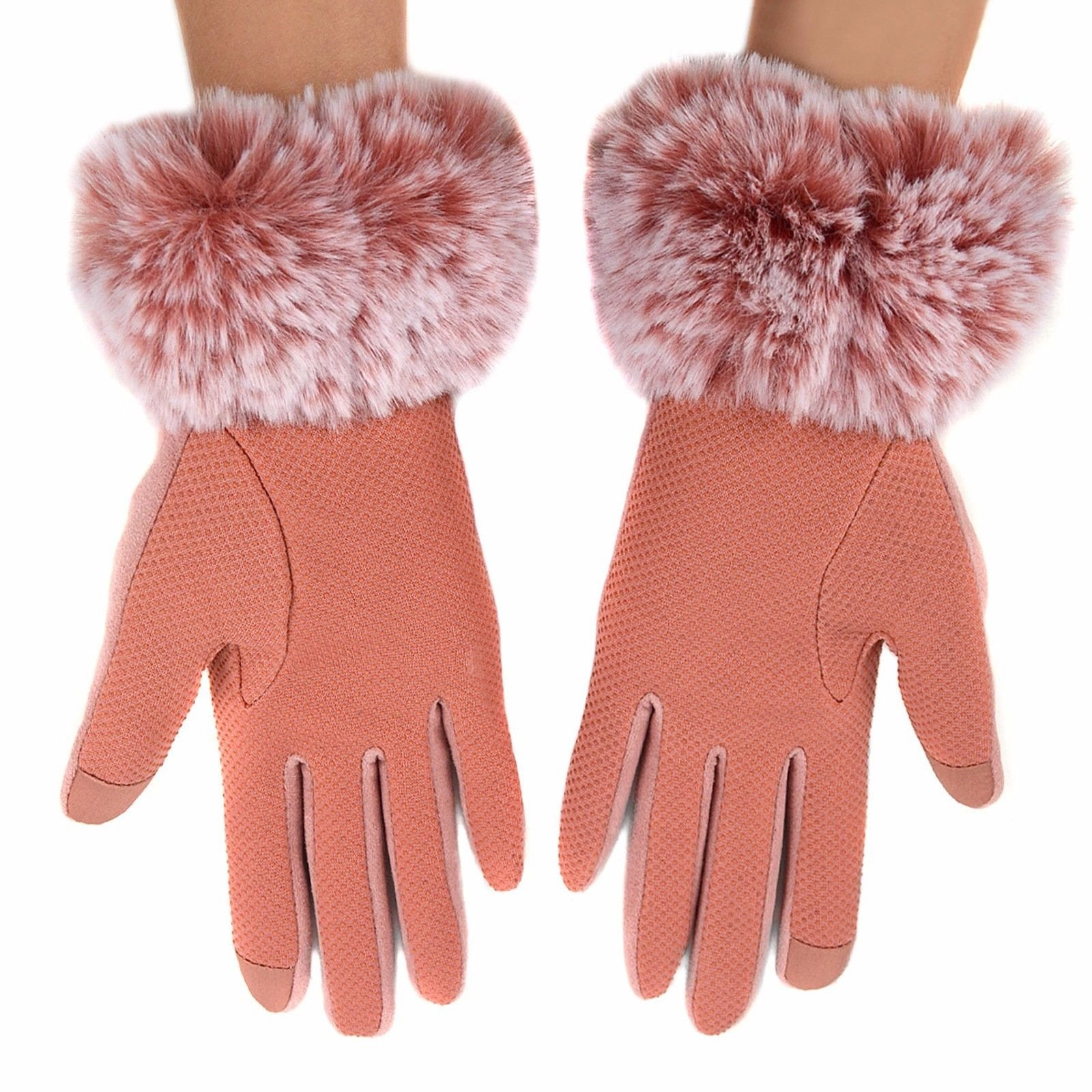 Women-039-s-Non-Slip-Grip-and-Smartphone-Accessible-Winter-Gloves-Touchscreen-Safe thumbnail 10
