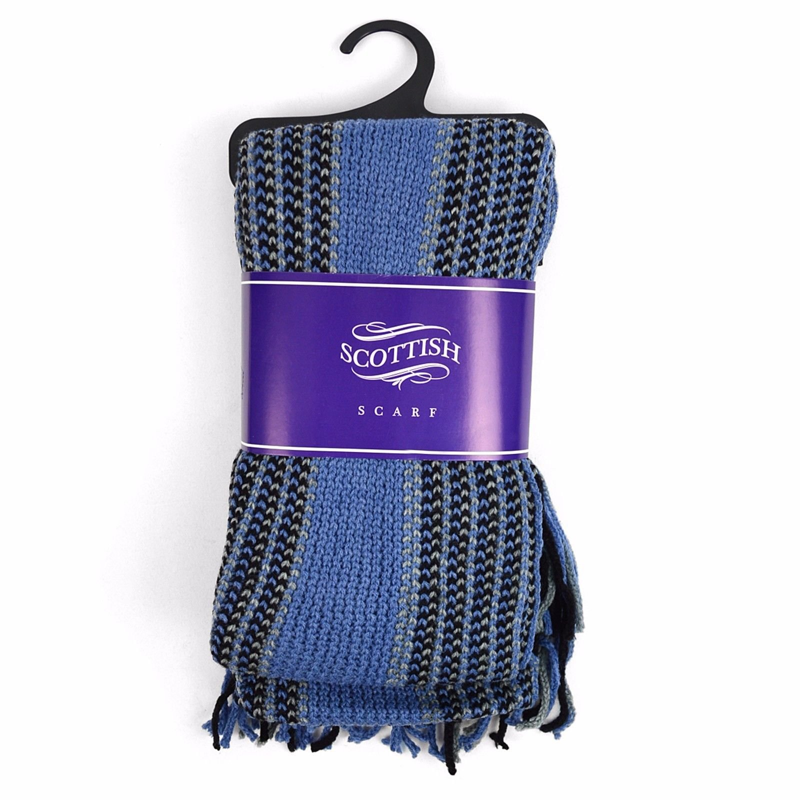 Unisex Mens Womens Knit Warm Stripes Winter Scarf With Classic