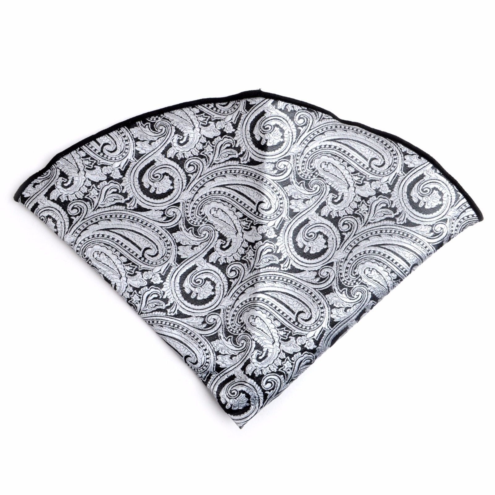 Traditional Paisley Pattern Banded Bow Tie Matching Pocket