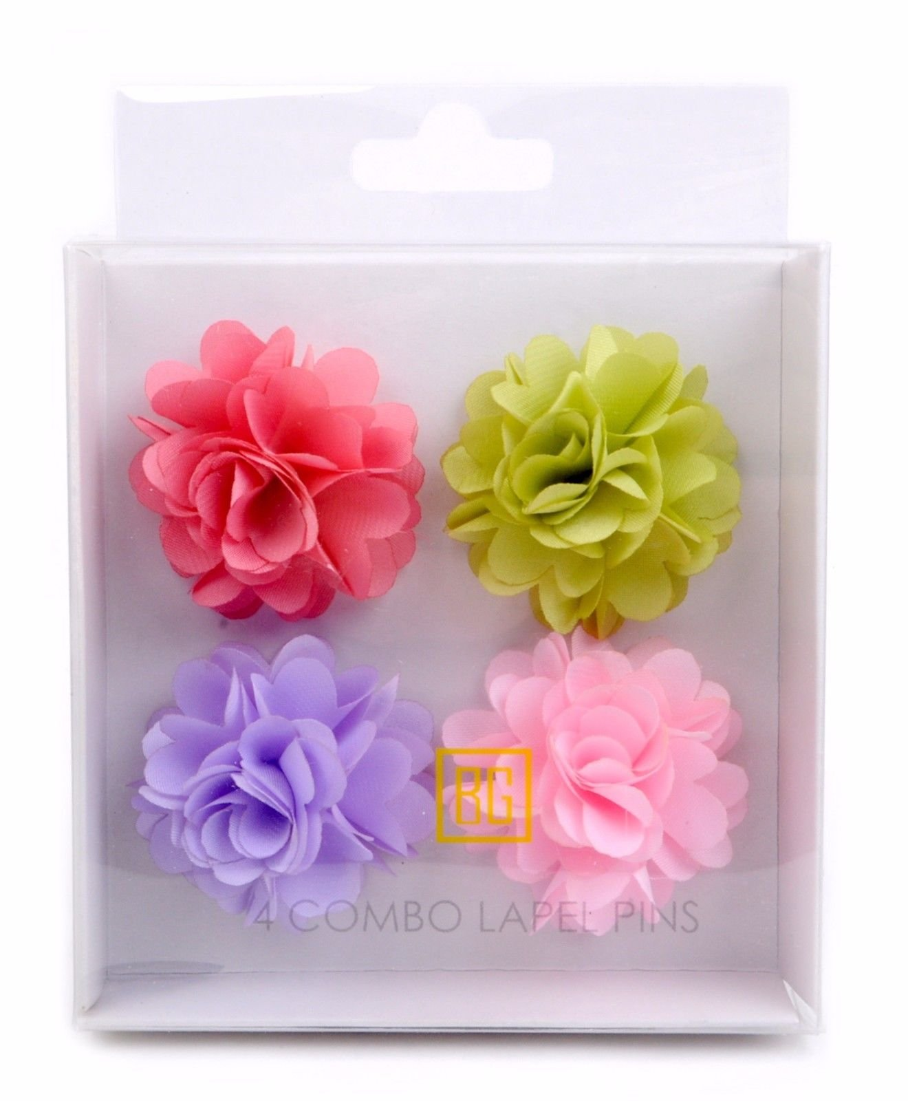 BG-Mini-Bouquet-Clutch-Back-Flower-Tuxedo-Suit-Lapel-Pins-Boutonniere-4-Pack-Set thumbnail 15