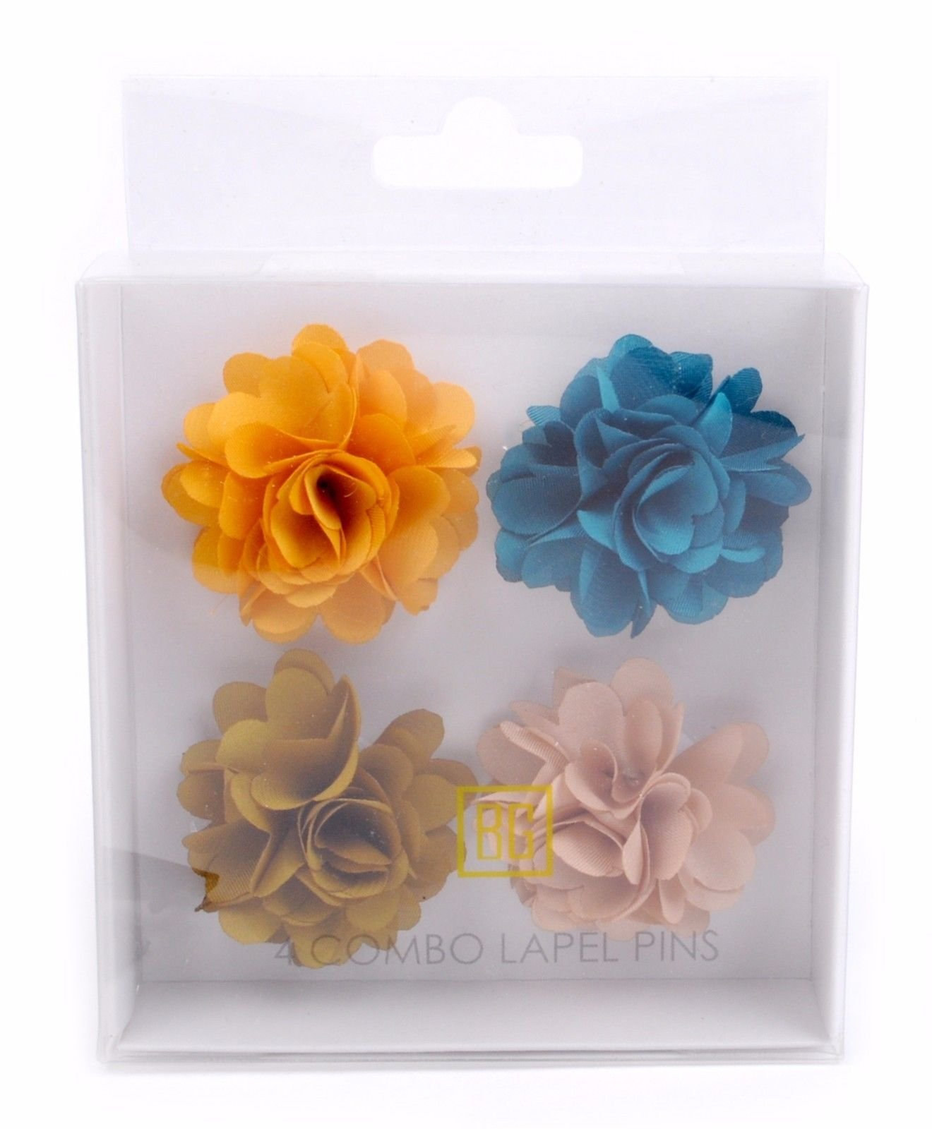 BG-Mini-Bouquet-Clutch-Back-Flower-Tuxedo-Suit-Lapel-Pins-Boutonniere-4-Pack-Set thumbnail 19