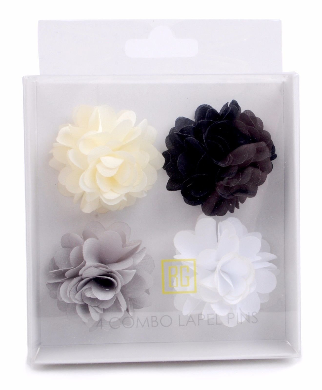 BG-Mini-Bouquet-Clutch-Back-Flower-Tuxedo-Suit-Lapel-Pins-Boutonniere-4-Pack-Set thumbnail 31