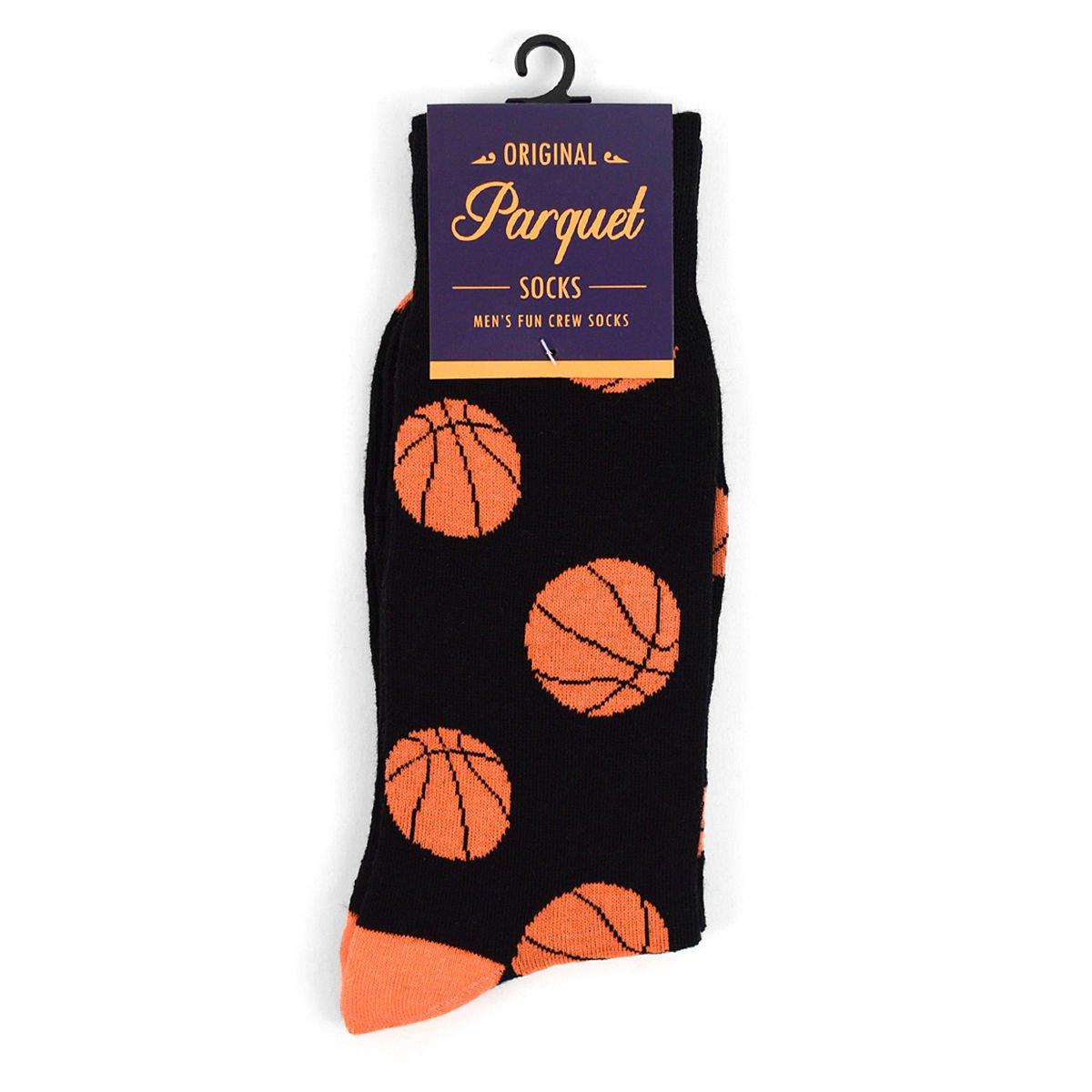 Details About Mens Basketball Woven Crew Novelty Socks Basket Ball Gift Idea