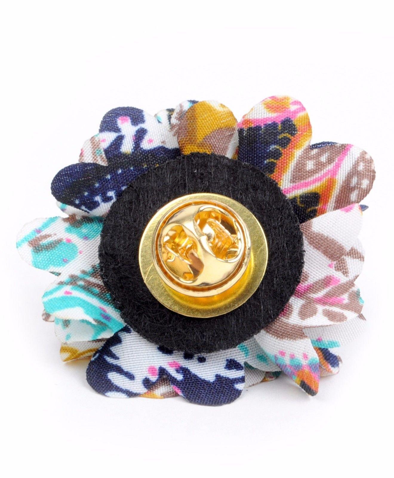 Vibrant-Paisley-Flower-Mini-Bouquet-Clutch-Back-Flower-Lapel-Pins-Boutonniere thumbnail 14