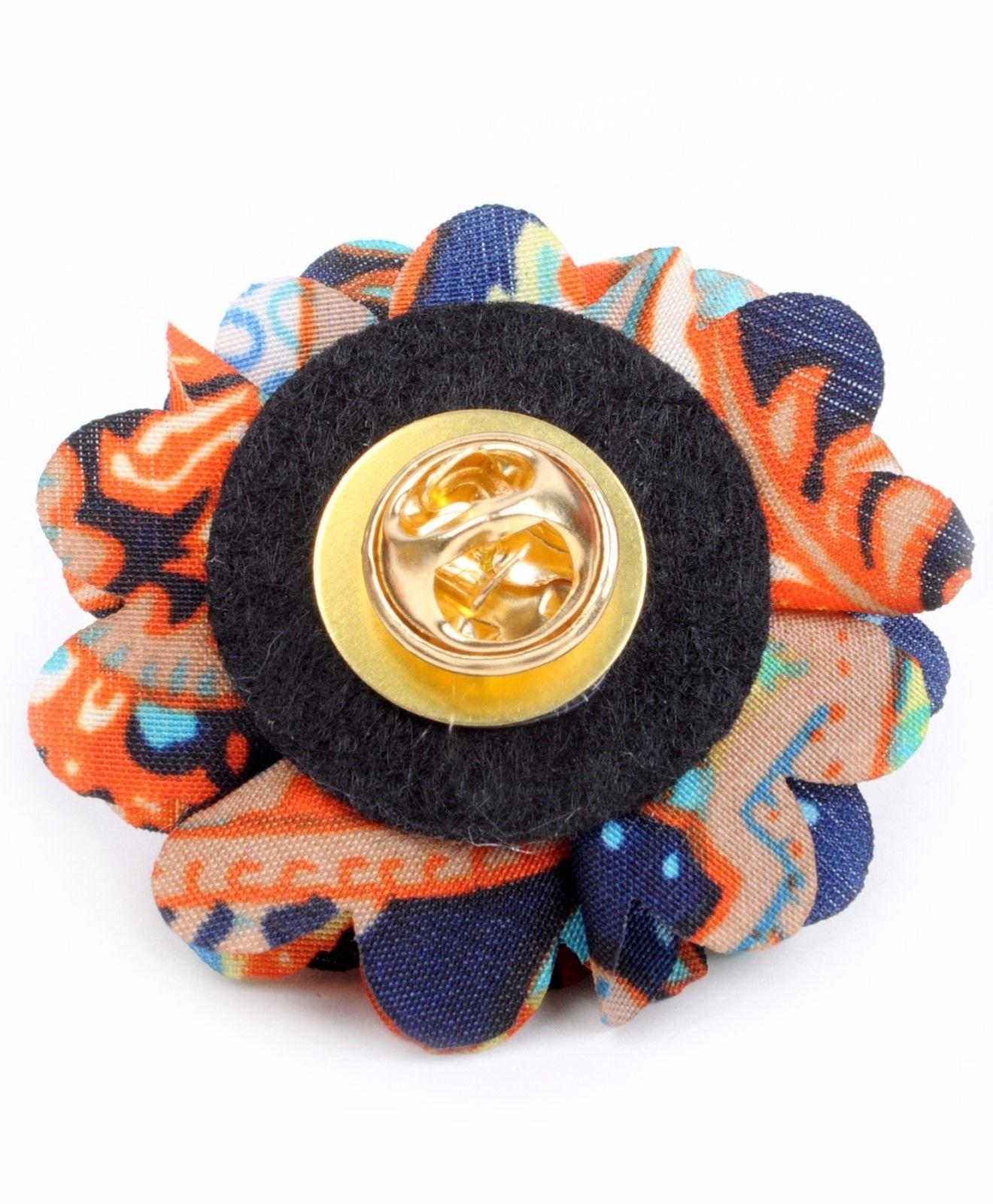 Vibrant-Paisley-Flower-Mini-Bouquet-Clutch-Back-Flower-Lapel-Pins-Boutonniere thumbnail 10