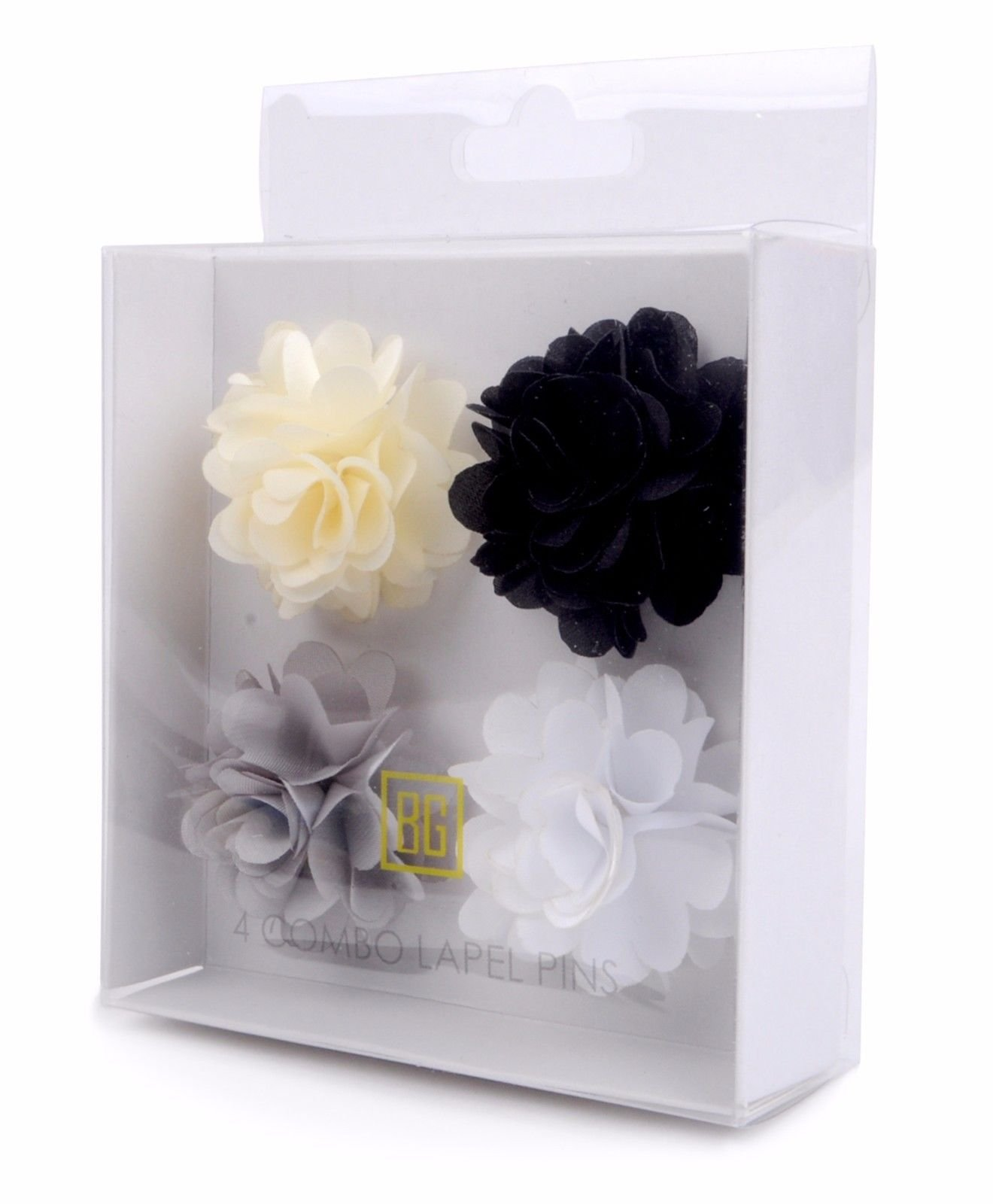 BG-Mini-Bouquet-Clutch-Back-Flower-Tuxedo-Suit-Lapel-Pins-Boutonniere-4-Pack-Set thumbnail 30