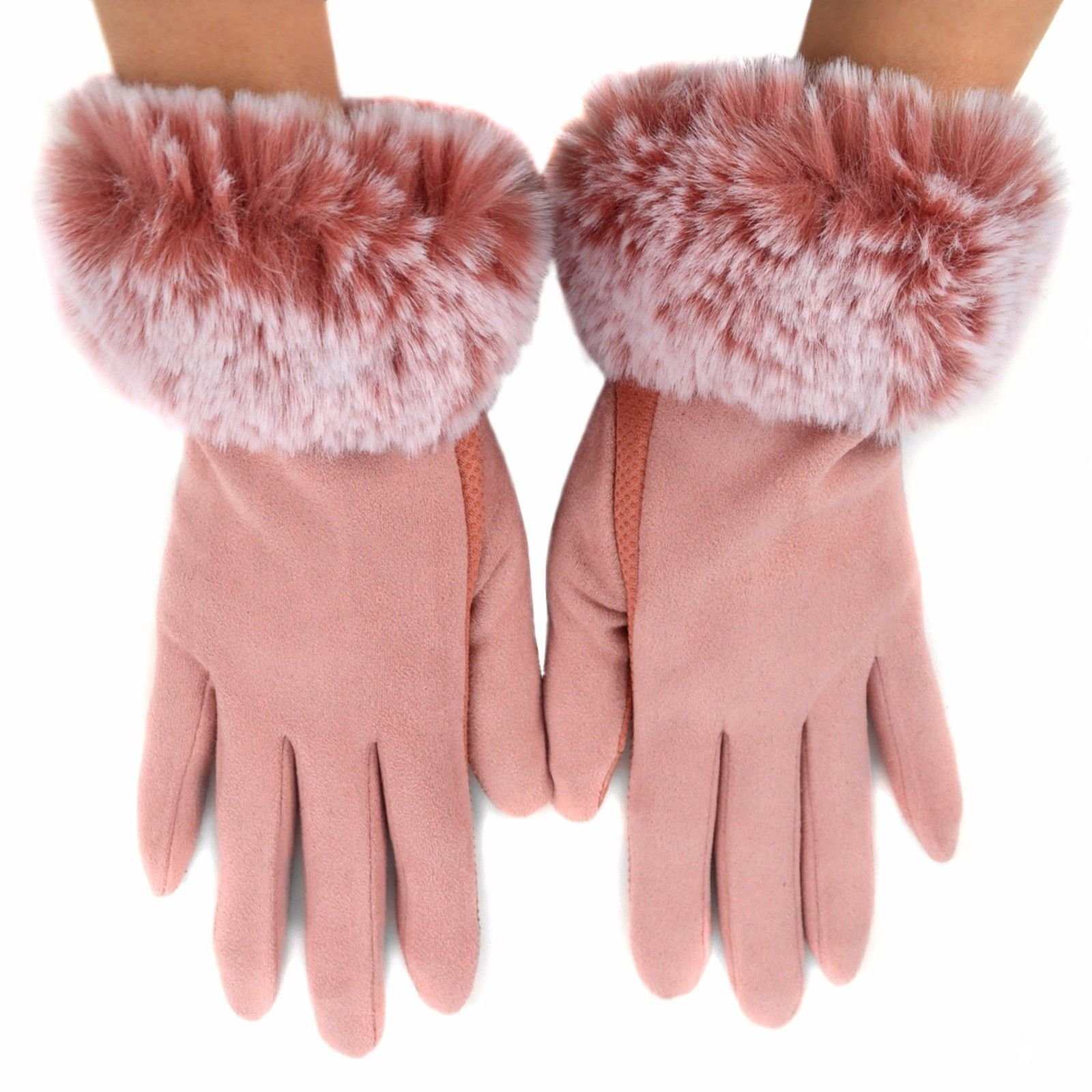 Women-039-s-Non-Slip-Grip-and-Smartphone-Accessible-Winter-Gloves-Touchscreen-Safe thumbnail 8