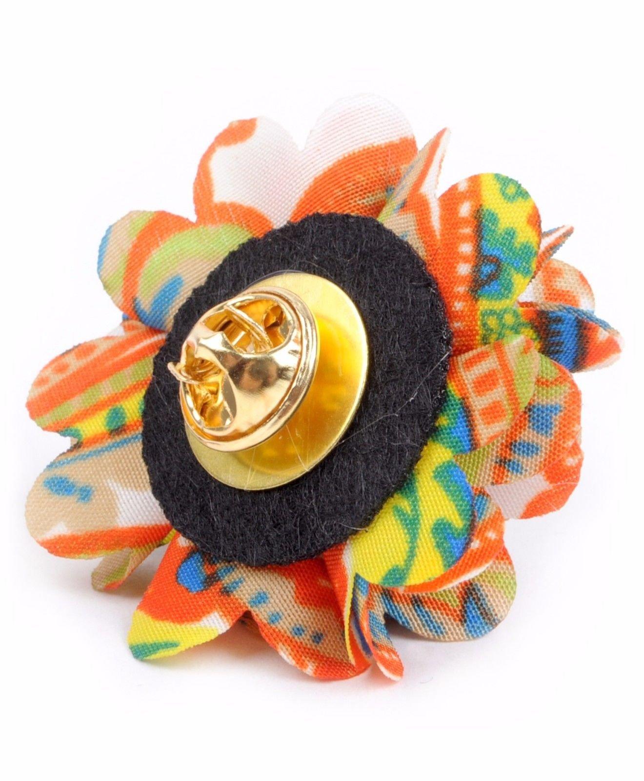 Vibrant-Paisley-Flower-Mini-Bouquet-Clutch-Back-Flower-Lapel-Pins-Boutonniere thumbnail 27