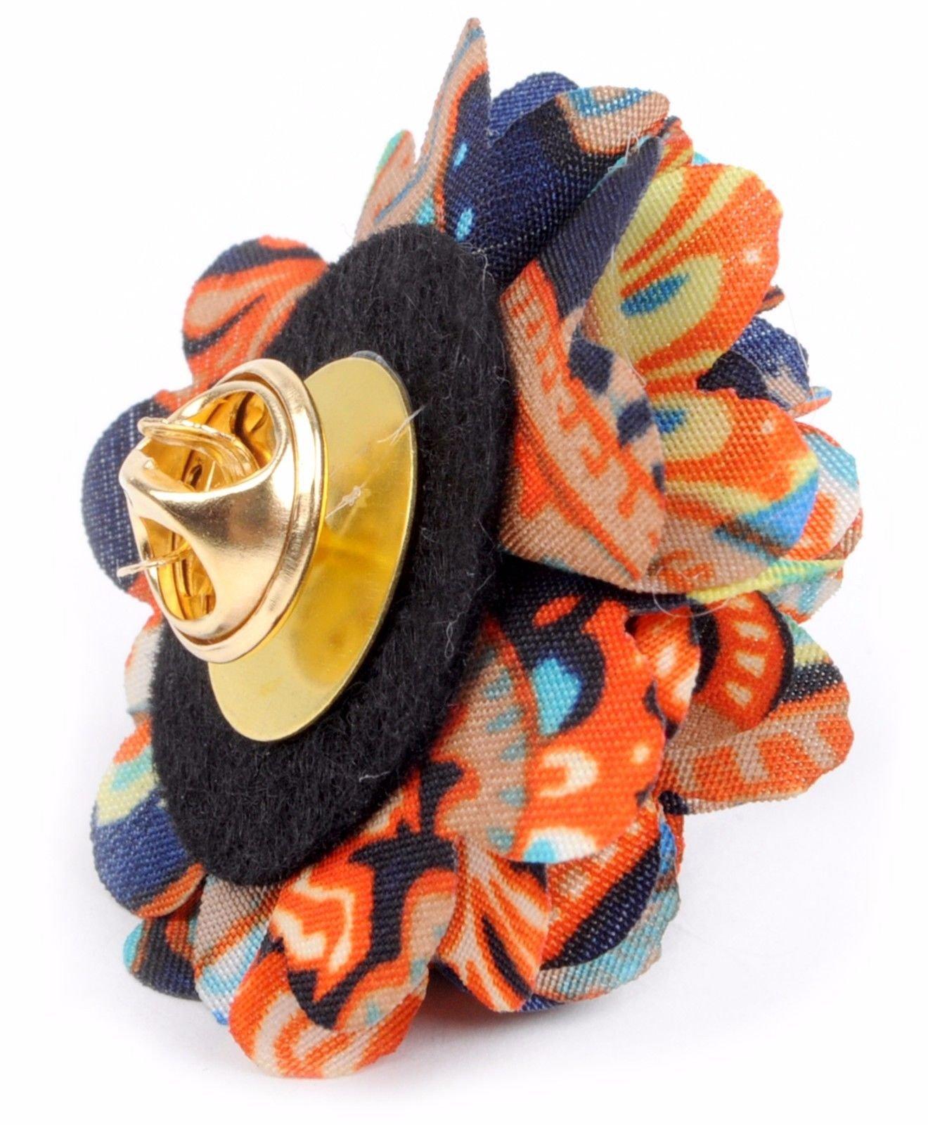 Vibrant-Paisley-Flower-Mini-Bouquet-Clutch-Back-Flower-Lapel-Pins-Boutonniere thumbnail 11